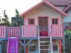 Backyard Playground, Shed, Outdoor Structures, Cabin, House Styles, Home Decor, Decoration Home, Room Decor, Cottage