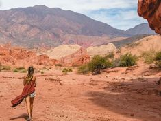 Looking to explore a different side of Argentina? Head north to the desert landscapes and wine tasting available in Cafayate in the Salta Province. #DesertLandscape