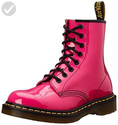 Dr. Marten's Women's 1460 8-Eye Patent Leather Boots, Hot Pink Patent Lamper, 11 B(M) US Women / 10 D(M) US Men - All about women (*Amazon Partner-Link)