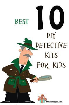 Best 10 DIY detective kits for kids - fun and affordable ideas for creating a homemade spy kit.  Learn how to read clues and solve problems.