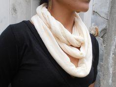Loop Scarf Jersey Loop Scarf Beige Scarf Long by FashionAndScarves