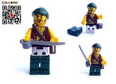 16GB USB Stick in complete original Lego Pirate by databrick, $79.95
