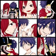 The history of Jella and Erza Fairy Tail Levy, Fairy Tail Ships, Fairy Tail Anime, Fairy Tail Family, Fairy Tail Couples, Fairy Tail Quotes, Fairy Tail Comics, Jellal And Erza, Fariy Tail