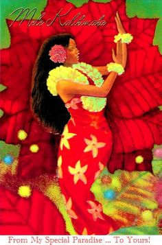 33 best hawaiian christmas cards images on pinterest christmas hawaiian hula girl christmas xmas cards poinsettia from hawaii m4hsunfo