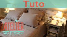 Une tête de lit faite de tasseaux  - L'atelier déco - YouTube