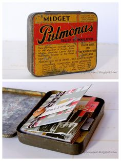 cute little album in an old tin.  Would love to do!