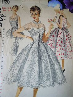 Gorgeous Vintage 1950s Simplicity 1120 Sweetheart by FoxVintageUk, £9.98