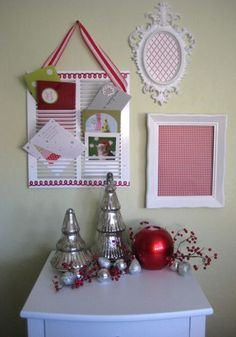 Christmas Card Holder - I LOVE this idea