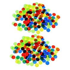 Homyl 200Pcs Plastic 19mm Bingo Chips Markers for Bingo Game Poker Cards Kids Counters Toys Christmas Gift Mixed Color