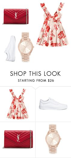 """""""Sunday"""" by deeplystylish on Polyvore featuring Vans, Yves Saint Laurent and Michael Kors"""