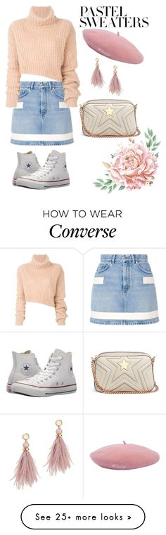 """Untitled #394"" by ghea-mareta on Polyvore featuring Givenchy, Ann Demeulemeester, Converse, STELLA McCARTNEY, Lizzie Fortunato and pastelsweaters"
