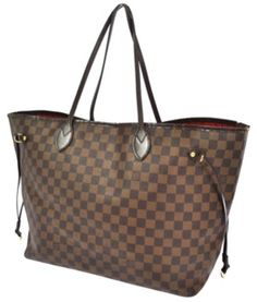 Authentic Louis Vuitton Damier Ebene Neverfull Tote in Damier Louis Vuitton  Neverfull Gm, Louis Vuitton 09d3f750c3