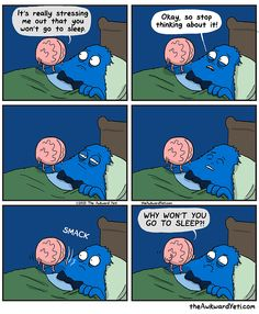 Go to sleep. The awkward yeti comics