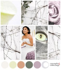 colorful moments color palette mood board, copper orange, coppertone, chalky white, lavender, ivy green, purplish-gray Ivy, One Shoulder Wedding Dress, Lavender, Palette, Copper, Industrial, In This Moment, Colorful, Mood
