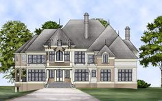 Kildare Place House Plan Stories: 2 Total Living Area: 4072 Sq. Ft. First Floor: 2042 Sq. Ft. Second Floor: 2030 Sq. Ft. Bedrooms: 5 Full Baths: 4 Width: 78 Ft.  Depth: 67 Ft.  Foundation: Basement