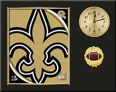 New Orleans Saints Team Logo Photo Inserted In A Gold Slide In Frame & Mounted On A Plaque With Arabic Clock -Awesome & Beautiful-Must For Any Fan! Art and More, Davenport, IA http://www.amazon.com/dp/B00NHE284C/ref=cm_sw_r_pi_dp_.wdxub0D95D8H