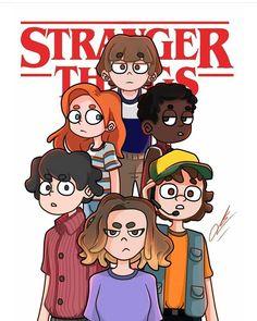 Watch Stranger Things, Stranger Things Season 3, Stranger Things Netflix, Cartoon Art Styles, Cartoon Drawings, Celebrity Drawings, Millie Bobby Brown, Disney Art, Fan Art