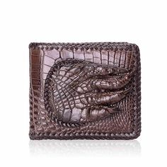 A handmade large leather wallet for a man of substance and style. Made from genuine alligator leather. This wallet is one of our most widely loved alligator wallets. Cheap Purses, Purses For Sale, Alligator Wallet, Handbag Organization, Handbag Organizer, Handbags For School, Custom Purses, Man Purse, Handbags On Sale