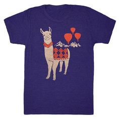 Llama Men's Tee Blue, $21, now featured on Fab. [Gnome Enterprises]