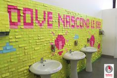 post it, toilet, event, advertising, idea