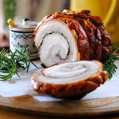 THE BELLY ROLL... seasoned, rolled and slow roasted. unctuous crispy porky goodness. super easy, no fail pork bell...