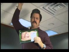 """When it comes to bacon, be prepared."" --Ron Swanson    Ron Swanson: Bacon Shortage PSA"