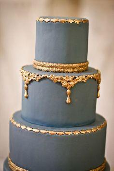 Metallic Wedding Cake Inspiration - Photo Credit: My Sweet and Saucy