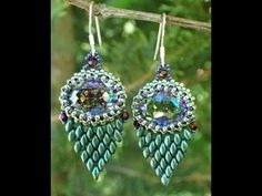 Faux Feather Earrings ~ Seed Bead Tutorials