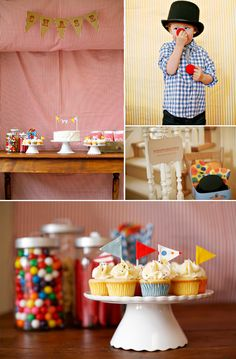 A circus themed first birthday party