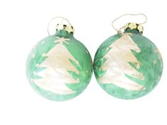 Vintage Set Green and Gold Christmas Tree by BelleBloomVintage
