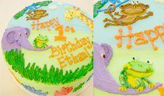 Safari Animals Birthday Cake
