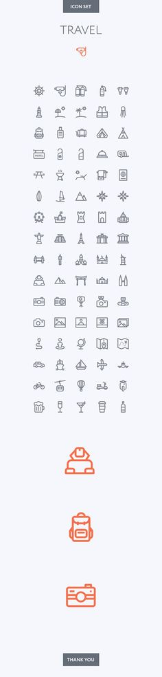 Travel icon set on Behance