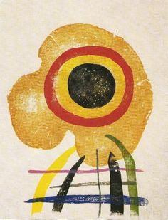 Joan Miró illust for Paul Éluard, À toute épreuve, 1958 Spanish Painters, Spanish Artists, Pablo Picasso, Joan Miro Paintings, Art Through The Ages, Modernisme, Art Walk, Art Moderne, Mellow Yellow