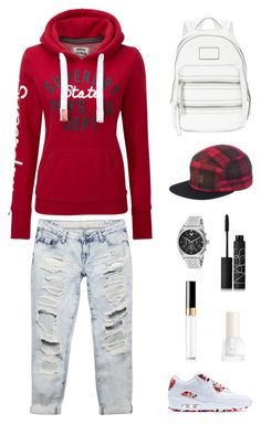 """my today's look"" by artemisluna1 ❤ liked on Polyvore featuring Wet Seal, NIKE, Superdry, Marc by Marc Jacobs, Billabong, Emporio Armani, NARS Cosmetics, Chanel and H&M"