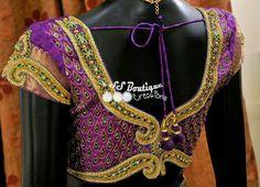 Kundan Work Wedding Blouse ~ Celebrity Sarees, Designer Sarees, Bridal Sarees, Latest Blouse Designs 2014