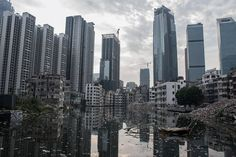 """elayesildogan: """"  Xian Cun, a village absorbed by the metropolis in Guangzhou, China """""""