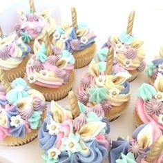 The Caker's Pantry ( Unicorn Cookies, Unicorn Cupcakes, Girl Cupcakes, Cupcake Party, Cupcake Cakes, Unicorn Birthday, Mermaid Birthday, Unicorn Party, 3rd Birthday Cakes