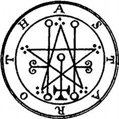 Asteroth Sigil from Lesser Key of Solomon Goetia Grimoire Demon Symbols, Mystic Symbols, Occult Symbols, Occult Art, Ancient Symbols, Summoning Circle, Protection Symbols, Satanic Art, Ange Demon