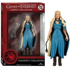 This is a Daenerys Targaryen action figure that is produced by Funko. The Daenerys Targaryen action figure is part of Funko's Legacy Collection line of figures. She's roughly 6 inches tall and looks f