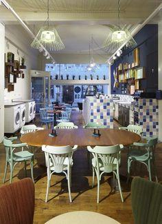 Coin Laundry Interior Design Lavagettone Studio Sano Laundry