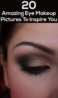 20 Amazing Eye Makeup Pictures To Inspire You {there's a few in here I'd never wear & might chuckle at someone later if I saw them out with the eyes, to each their own though. Sexy Eye Makeup, Eye Makeup Tips, Cute Makeup, Pretty Makeup, Makeup Goals, Makeup Inspo, Makeup Inspiration, Hair Makeup, Eye Makeup Pictures