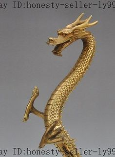 """16"""" china chinese fengshui brass copper animal zodiac dragon beast lucky statue 2 • CAD 215.04"""