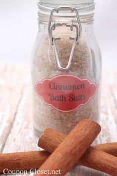 How to make Cinnamon Bath Salts (Homemade Christmas Gift idea) - Coupon Closet