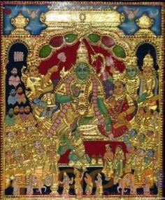 Buy paintings - Ramar Pattabishekam , Tanjore Paintings in Atgom Arts