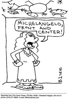 Funny kids art mom  cartoon from October 06, 2004.  So true you just never know where the art wok will show up!!!