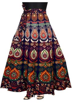 FREE Express SHIPPING In USA/Uk.Cotton Wrap around Skirts for Women Indian Bohemian Mandala Long Maxi Summer Dress Beautiful Floral Printed