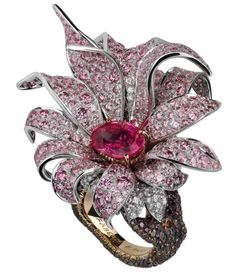 Magnolia ring by Faberge