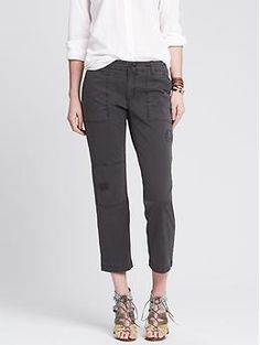 Heritage Distressed Utility Crop by Banana Republic.