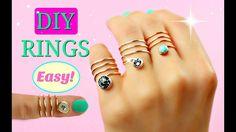 DIY rings | No tools! | DIY Easy rings