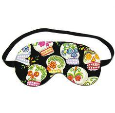 Cute Eye Cover - Flower Skulls Sleep Eye Mask - For Travel / Home / Camping